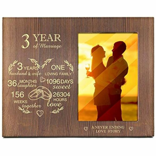 Ku-dayi 3 Year Of Marriage Picture Photo Frame Wedding Anniversary As And