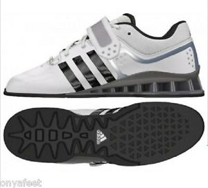 online store 5bb98 152bd Image is loading Adidas-Mens-adiPower-Weight-Lifting-Shoes-Exercise-White-