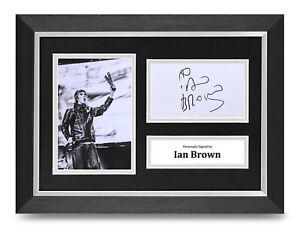 Ian-Brown-Signed-A4-Framed-Photo-Display-Stone-Roses-Autograph-Memorabilia-COA