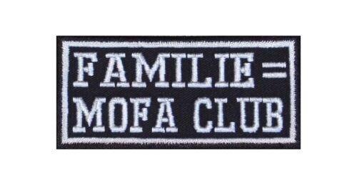 Famiglia = MOTORINO Club PATCH RICAMATE BADGE Biker Heavy Rocker STAFFA immagine tonaca STIC