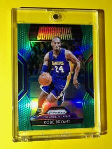 Kobe-Bryant-GREEN-REFRACTOR-PANINI-PRIZM-DOMINANCE-INSERT-SPECIAL-CARD-Mint