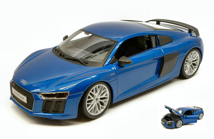 Audi r8 2015 metallic bluee 1 18 model maisto