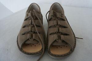 FINN-COMFORT-Abano-Damen-Sommer-Schuhe-Sandalen-Gr-36-Beige-Nubuk-Leder-NEU