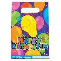 24 Birthday Party Loot Bags Plastic Goody Treat Bag Aa40 Nip Free Shipping