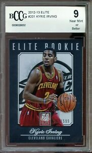 2012-13 Elite #201 Kyrie Irving Rookie Card BGS BCCG 9 Near Mint+