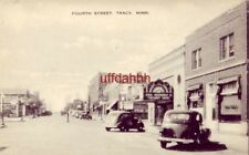 "FOURTH STREET, TRACY, MN. circa 1940 ""Cocoanut Grove"" playing at movie theater"