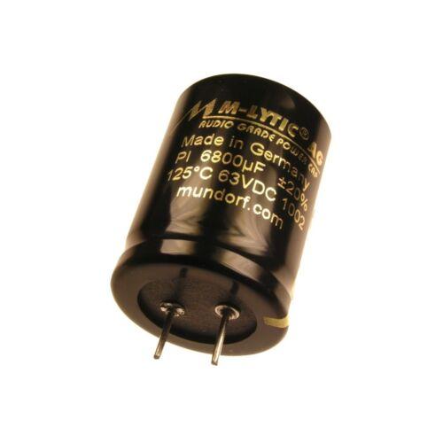 Mundorf condensador Elko 6800uf 63v 125 ° C mlytic ® AG audio Grade 853365
