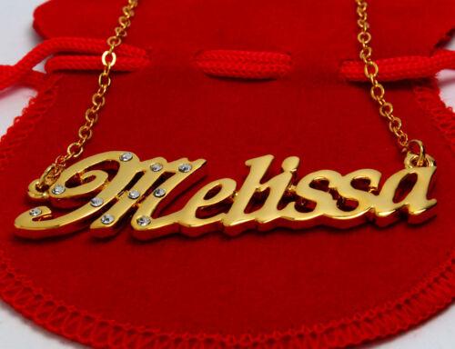18K Gold PlatedWedding Anniversary Necless Designer Name Necklace Melissa