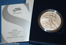 (1) 2008 Us Mint boxed W/ Cert Uncirculated American Eagle 99.9 Silver dollar