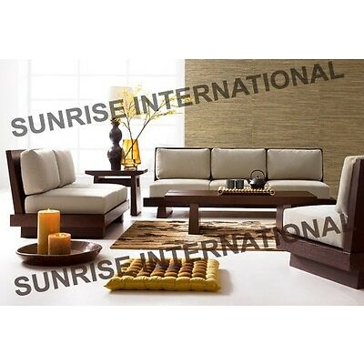 Contemporary Wooden Sofa Set (Sun Wss079)