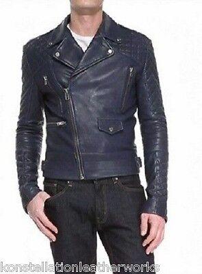 Trendy Designer New Soft Lambskin Bomber Leather Jacket For Stylish Men M600