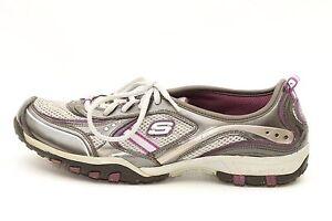 Skechers-Sport-Womens-Muse-Mystical-Grey-Purple-Sneakers-Shoes-11497-Size-7