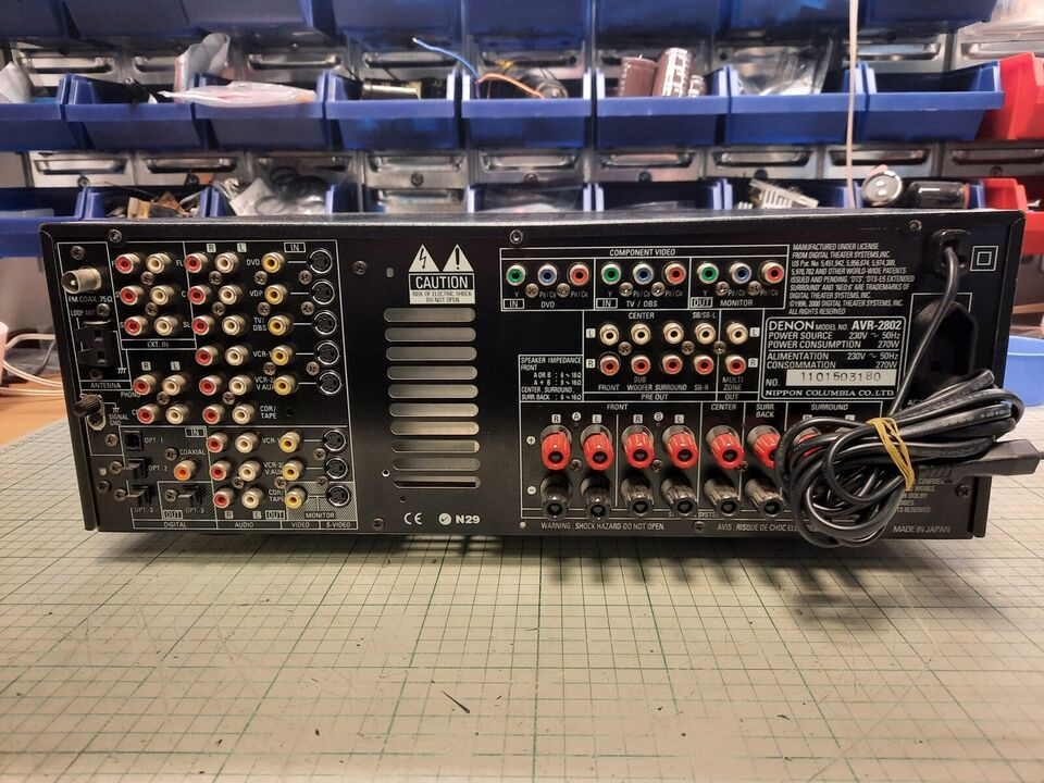 Denon, AVR-2802, 6.1 kanaler