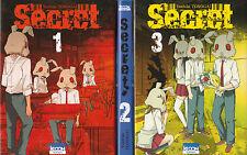 SECRET Tomes 1 à 3 Tonogai MANGA shonen série auteur Doubt Judge COMPLET