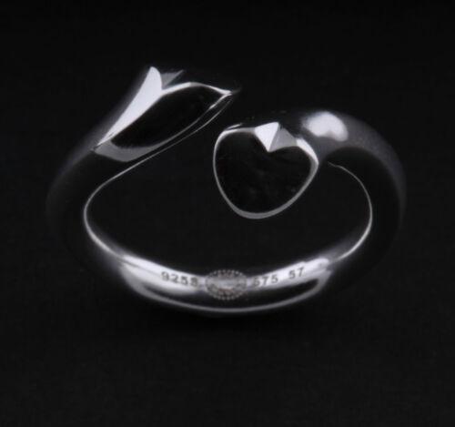 Regitze Overgaard Georg Jensen sterling silver heart ring # 575 neuf.