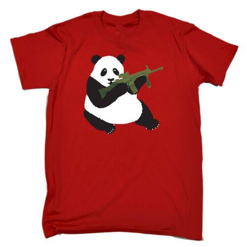 Armed Panda Funny Novelty T-Shirt Mens tee TShirt