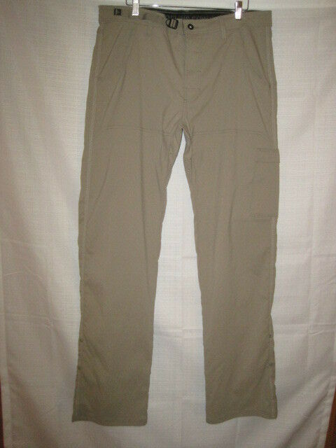 Prana Stretch Roll Up Cargo Hiking  Pants men's 36 x 36 tan  ultra-low prices