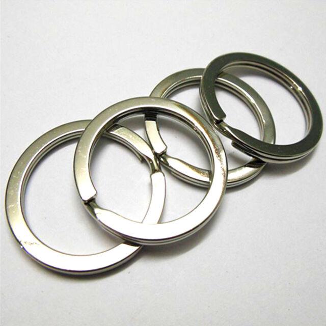 10Pcs*25mm Metal Key Holder Split Rings Keyring Keychain Keyfob Accessories