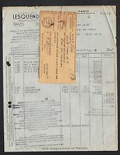 """PARIS (IV°) PRODUITS de BEAUTE / COSMETIQUE """"PARFUMERIE LESQUENDIEU"""" en 1942"""