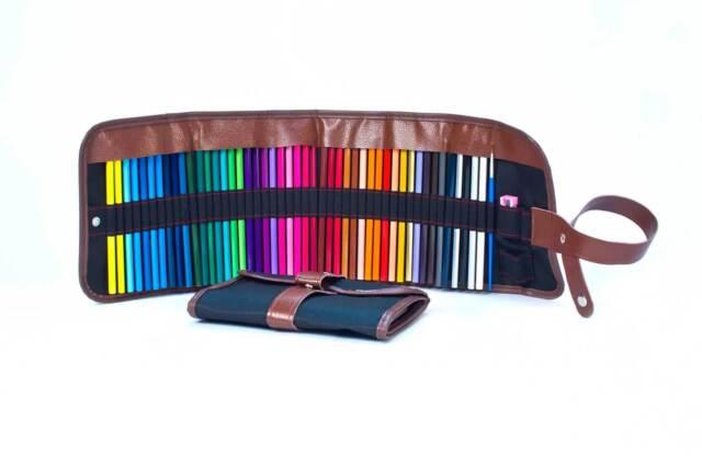 COLORPRISM Colored Pencils with Canvas Case 48 Vibrant Colors