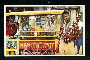 Jamaica-Color-Postcard-of-Homemade-Rum-Street-Vendor