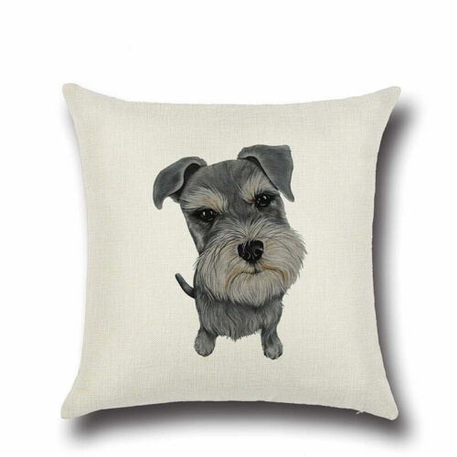 "18/"" Dog Linen Decor Cotton Throw Pillow Case Sofa Cushion Cover Car Pillowcases"