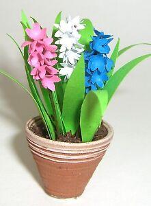 Dolls-House-FLOWER-KIT-6-HYACINTHS-miniature-garden-12th-scale