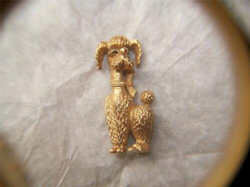 Vintage 50's Boucher Pin, Goldtone Metal Poodle 77