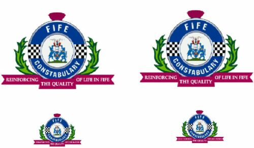 * Fife police crest DECAL choice of sets IDEAL FOR  CODE 3 Models