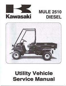 kawasaki service manual 2000 mule 2510 diesel ebay rh ebay com