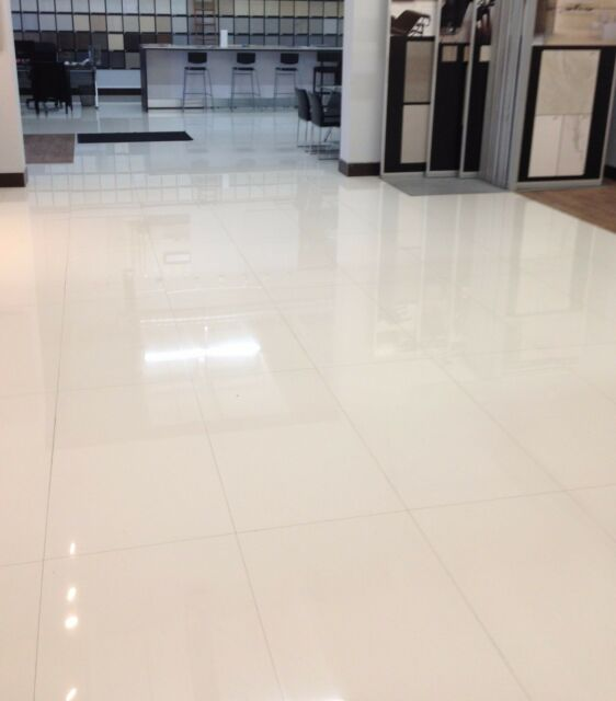 Polished Porcelain Tile Rectified 24x48 Moderni White Double Loaded Nano Tech