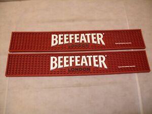 (2) Beefeater ENGLISH GIN-promo de marque caoutchouc Bar Rail Spill Mat-Neuf-afficher le titre d`origine Ebprzkjg-09165313-352351863