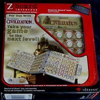 Ideazon / Steelseries Zboard Sid Meier's Civilization 3 Keyset Interface -
