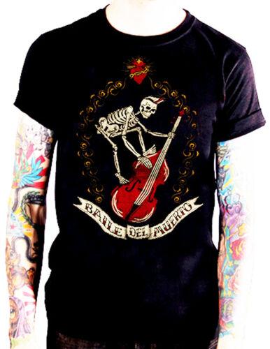 t-shirt rockabilly psychobilly Skull Skel La marca del diablo baile del abierto
