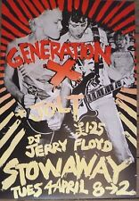 Generation X poster - Live at Newport Stowaway club 1978 with Jolt concert promo