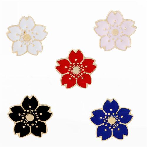 5PCS Enamel FlowYH Brooch Pin Shirt Collar Pin Corsage Badge Women Jewelry YH