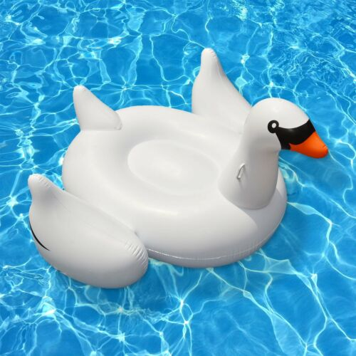 Swimline Giant Inflatable Ride-On 75-Inch Swan Float For Swimming Pools90621