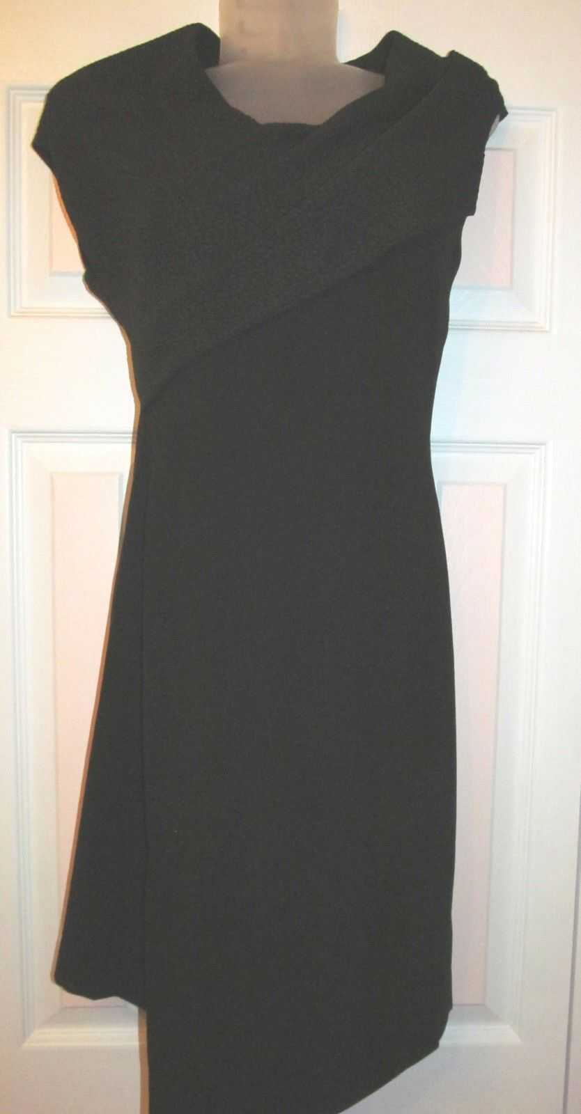 W118 by WALTER BAKER origami wearable art textured accents wiggle dress XS NWOT