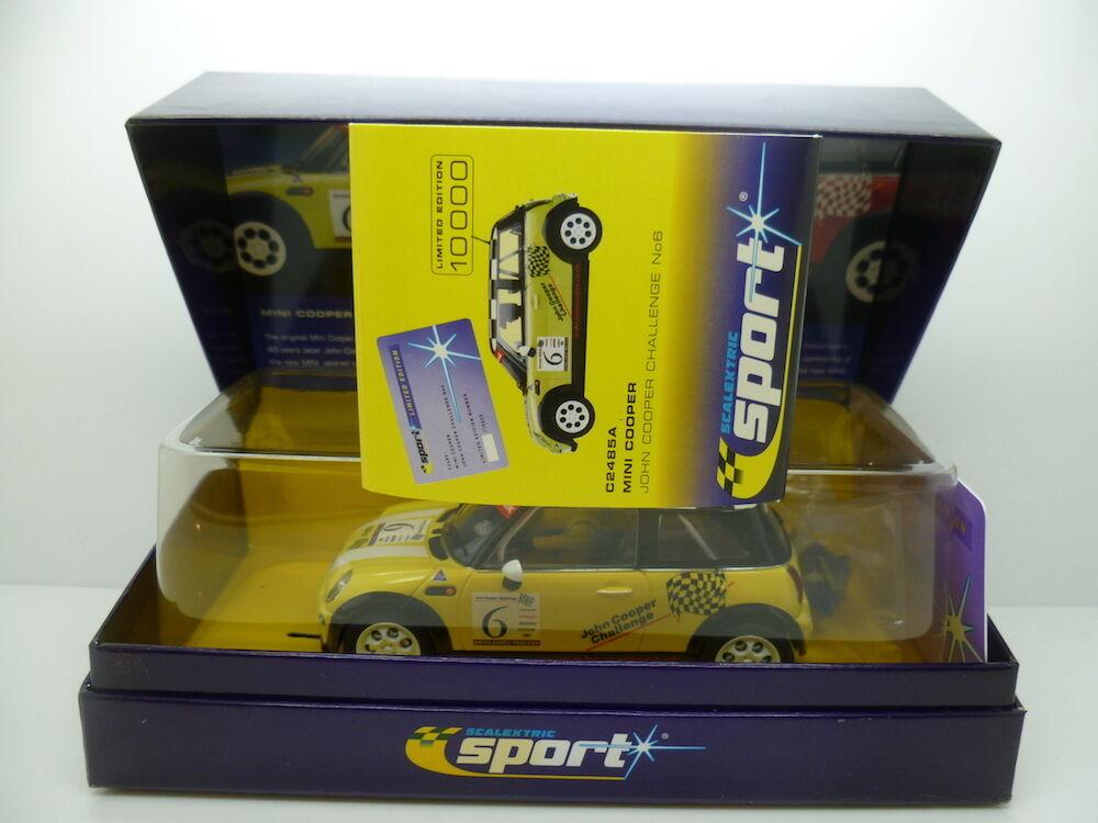 Scalextric C2485A Mini Cooper, John Cooper desafío No.6, Min sin usar y en caja