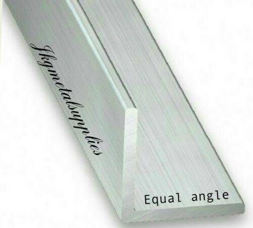 "various lengths ALUMINIUM EQUAL ANGLE 3//4/"" x 3//4/"" x 1//16/"" thick"