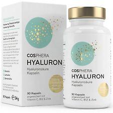 49,99€/100g - Cosphera Hyaluronsäure hochdosiert 350mg, 90 vegane Kapseln