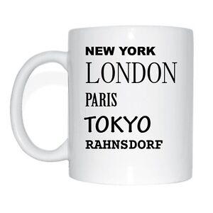 New York, London, Paris, Tokyo, RAHNSDORF Tasse Kaffeetasse