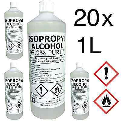 IPA 99 9% | 20 LITRE | Lab Grade | Isopropyl Alcohol/Isopropanol | 20L  642968734704 | eBay