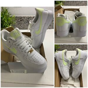 DS-Nike-Air-Force-1-Low-Women-039-s-Shoes-White-Barely-Volt-Sz-9-5-Max-315115-155