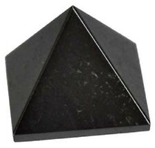 PYRAMID - HEMATITE 24-28mm Crystal w/Description & Pouch - Healing Reiki Stone