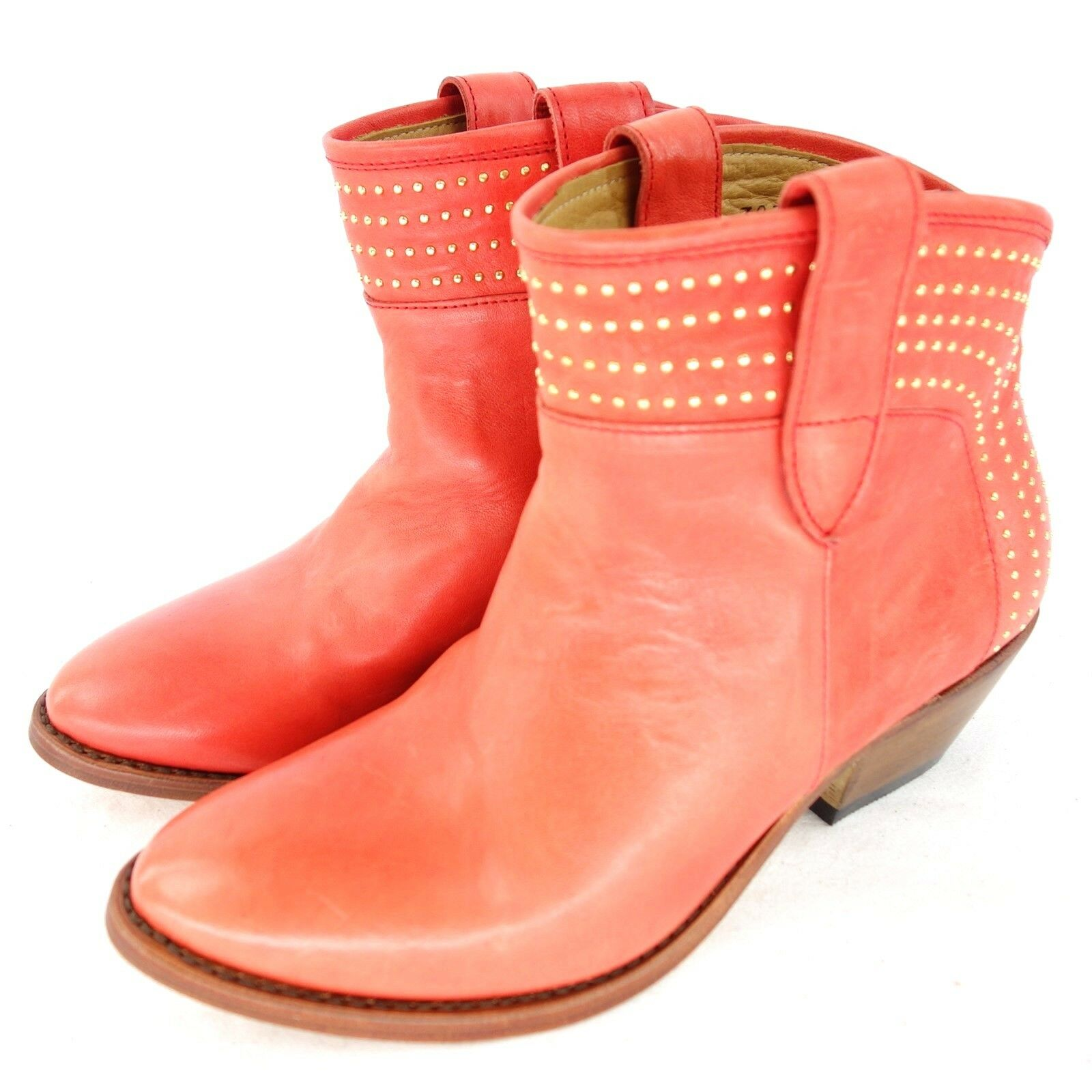 Perlita Peaches señora botas zapatos botín puebla cuero tachuelas NP 269 nuevo
