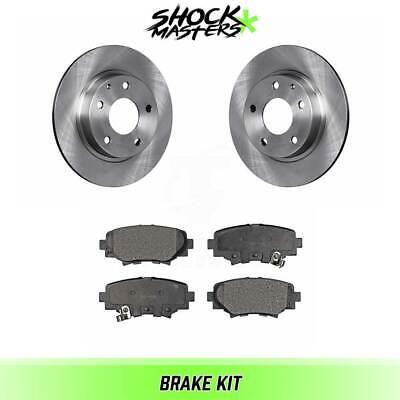 Rear Ceramic Brake Pads w//Hardware Kit for 2014 2015 2016 Mazda 3 Japan Models