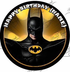 batman wedding cake topper uk large batman cake topper icing personalised birthday 11134