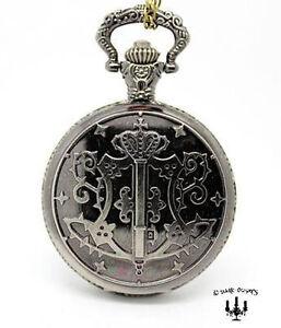 Steampunk taschenuhr  Gothic Mittelalter Taschenuhr mit Kette Uhr silber bronze ...