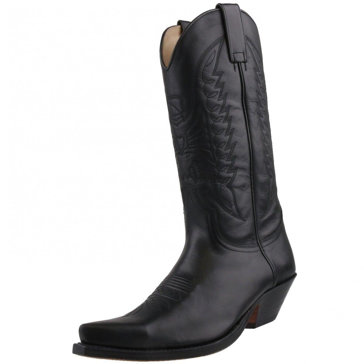 NEUF sendra bottes Chaussures Hommes 2073 Bottes De Cowboy Bottes Chaussures en cuir noir